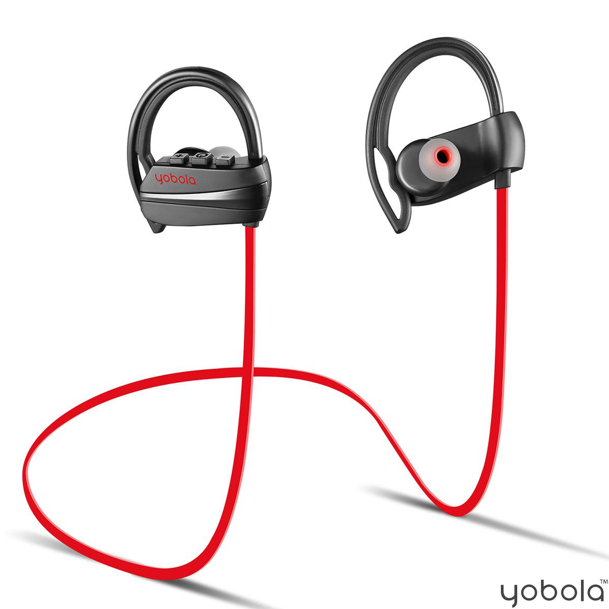 yobola M2 Bluetooth Headphones - Red